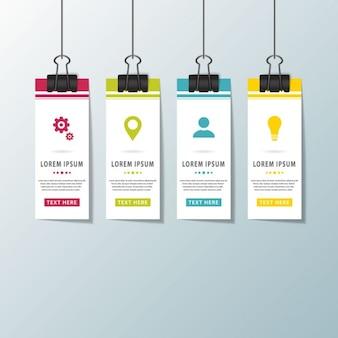 Cuatro bonitas opciones colgantes para infografías