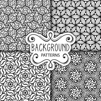 Cuatro lindos fondos blanco y negro