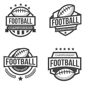 Cuatro logotipos para fútbol