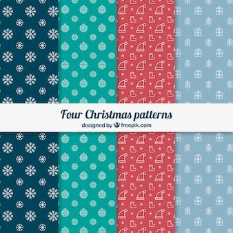 Cuatro patrones de Navidad