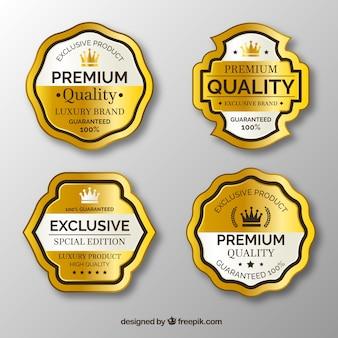 Cuatro pegatinas exclusivas