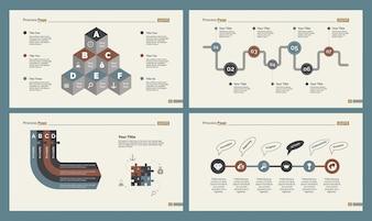 Cuatro Plantillas de Diapositivas de Producción