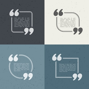 Cuatro plantillas de texto