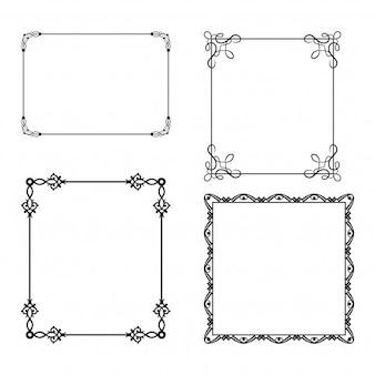 Cuatro sencillos marcos ornamentales