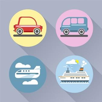 Cuatro transportes distintos