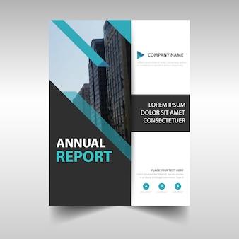 Cubierta creativa azul de informe anual
