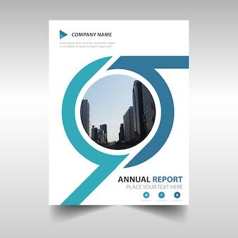 Cubierta creativa redonda de reporte anual