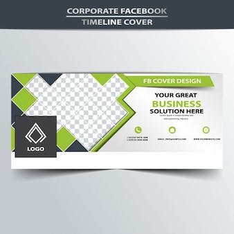 Cubierta de línea de tiempo de facebook promocional