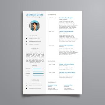 Curriculum limpio empresarial