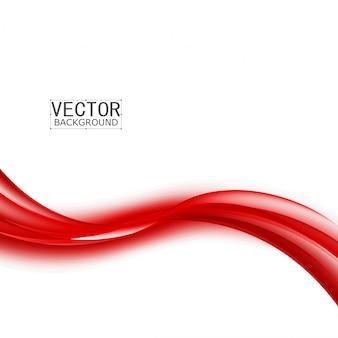 Curva de fondo rojo