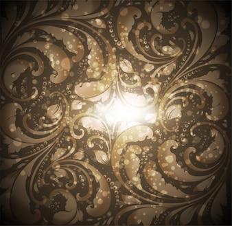 Curva de seda swirly textura negro