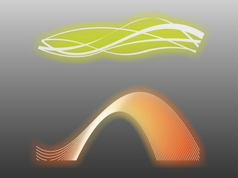 Curvas abstractas con brillo