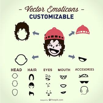 Customizable face vector