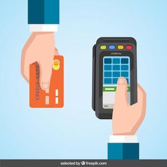 Datáfono de tarjeta de crédito
