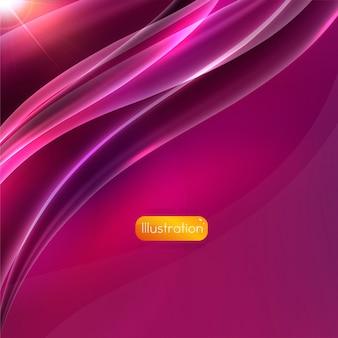 De forma de fondo de color púrpura curva blanca