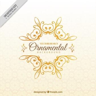 De mano de oro adorno de fondo dibujado