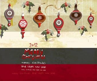 De papel colgando de la decoración de felicitación de Navidad