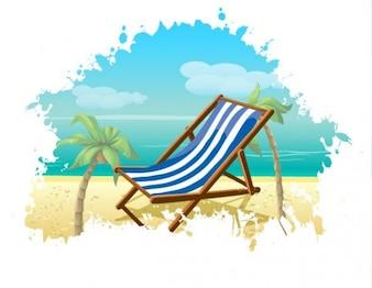 de playa de verano de vectores de fondo