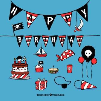 Decoración de cumpleaños con temática pirata