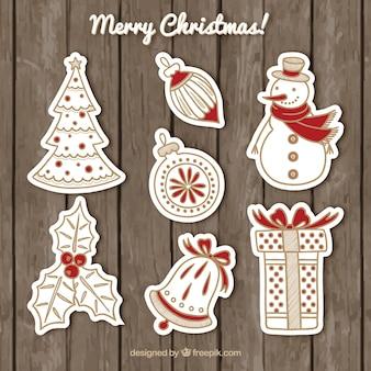 Decoración de navidad impresionante con detalles rojos