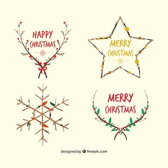 decoración de ramas de navidad
