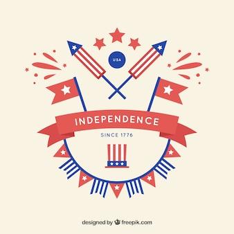Decoración del día de la independencia americana