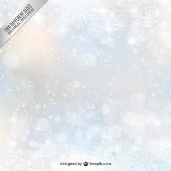 decoración difuminada con copos de nieve