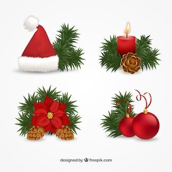Decoración navideña de guirnalda