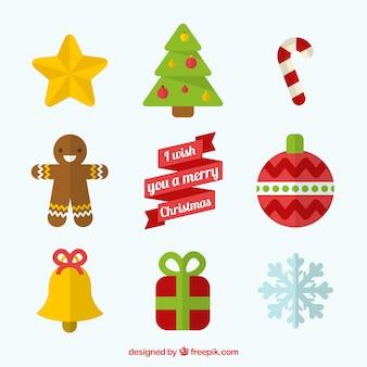 Decoración plana de navidad