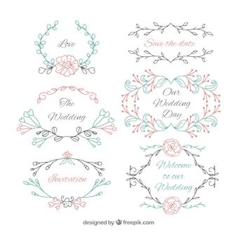 Decoraciones de boda de bonitos colores