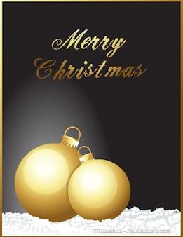 Decorativas bolas de oro para la Navidad