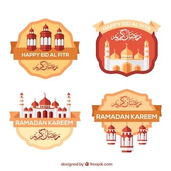 Decorativas pegatinas de ramadan kareem