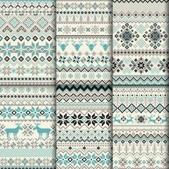 Decorativos patrones de invierno