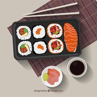 Delicioso menú de sushi