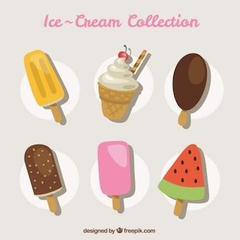 Deliciosos helados de sabores