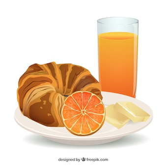 Pan frances fotos y vectores gratis for Desayuno frances tradicional