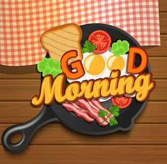 Desayuno inglés. Vector.