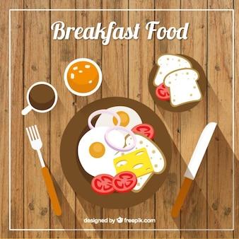 Desayuno sabroso saludable