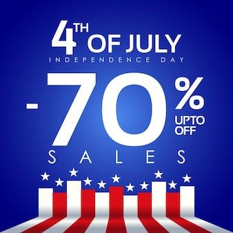Descuento del 70% del cuatro de julio