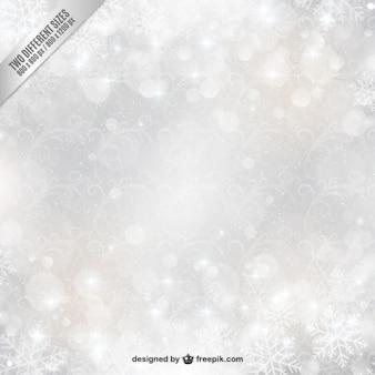 desenfoque de copos de nieve