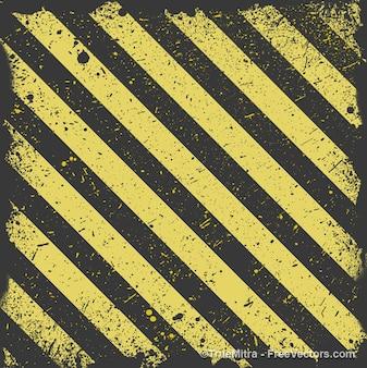 Desgastado fondo amarillo y negro a rayas