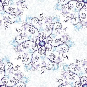 Desplazamiento delicado floral con flores de color azul
