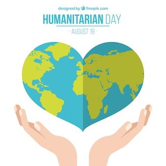 Día de la ayuda humanitaria, planeta corazón