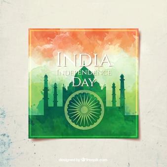 Día de la independencia de india, acuarela