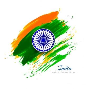 Día de la república de india, acuarela artística