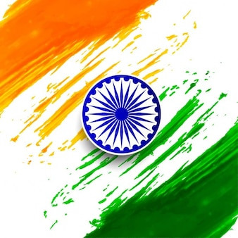 Día de la república de la india, acuarela