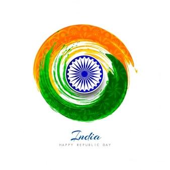 Día de la república de la india, acuarelas circulares