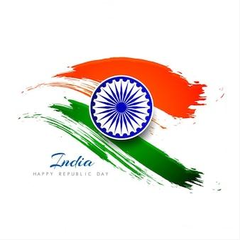 Día de la república de la india, fondo con acuarelas
