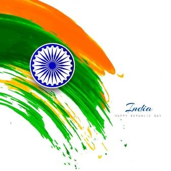 Día de la república de la india, fondo con manchas de acuarela