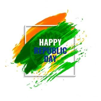 Día de la república de la india, fondo con un marco